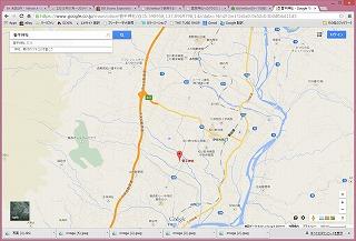 菅原神社へのアクセスのイメージ